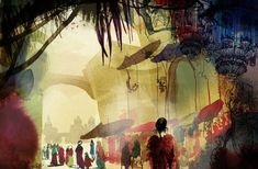 Bazaar situation. by Illustrator: Daniel Egneus