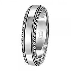 The thick roping on the outside of this Scott Kay men's wedding band give this ring a really cool gothic look! We love it. C1035V6PP <3CapriJewelers