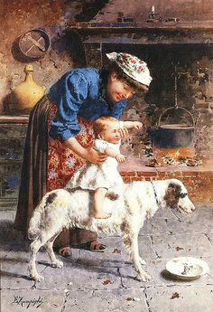 PRIMI GIOCHI - Eugenio Zampighi (1859-1944)   EUGENIO ZAMPIGHI (Modena, 1859 – Maranello, 1944)   #TuscanyAgriturismoGiratola