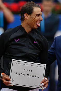 """""""Rafa Nadal at the inauguration on Pista Rafa Nadal in Barcelona (via Tanika) """""""