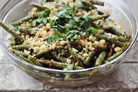 Thai Style Green Beans- this calls for sesame oil, but why not add some Wild friends Sesame Cranberry PB