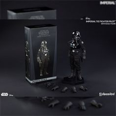 Star Wars Sideshow Imperial Tie Fighter Pilot 1/6 scale action figure
