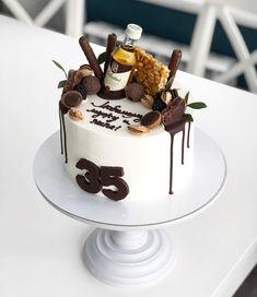 Birthday Ideas Food Ideas For 2019 Birthday Cakes For Men, 21st Birthday, Birthday Ideas, Cake Icing, Fondant Cakes, Cake For Boyfriend, Bithday Cake, Gateaux Cake, Drip Cakes