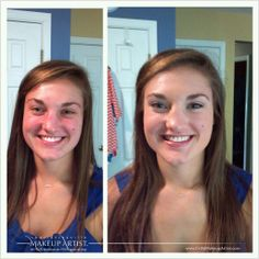 the magic of airbrush! before (left) and after (right) want to learn more? details and turorials on this blog! #airbrushingmakeup #airbrushmakeup #airbrush #makeup