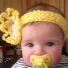 Crochet Yellow and cream baby/Infant crochet by LLCatsCrochet, $8.00