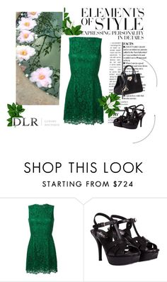 """DLR - Luxury Boutique"" by fashionb-784 ❤ liked on Polyvore featuring Dolce&Gabbana, Yves Saint Laurent, Jimmy Choo and Vera Wang"