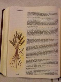 Luke 10:1-12. Sherrie Bronniman - Art Journaling: In My Bible