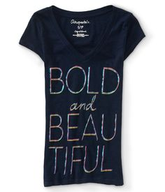 Bold and Beautiful V-Neck Graphic T - Aeropostale