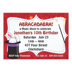 Abracadabra Magic Show Card