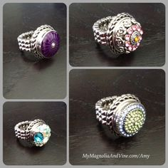 Magnolia and Vine, Dream Weaver Ring. It stretches so it fits any finger. Love it. Design a style that's right for you with Magnolia and Vine customizable, snap jewelry and accessories. Check out my website... www.mymagnoliaandvine.com/932