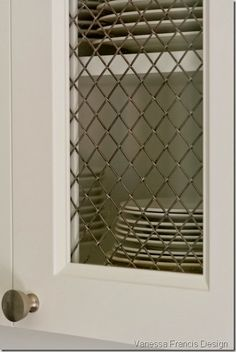 Wire Mesh Detail Restoration Hardware Painted Cabinets More Pins Like This At