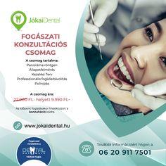#JókaiDental #konzultáció #akció #Budapest #fogászat #fogorvos #szájsebészet #rendelő Dental Health, Dental Care, Root Canal Treatment, Oral Surgery, Dental Implants, Teeth Cleaning, Orthodontics, Teeth Whitening, Pediatrics
