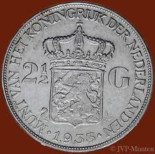 2½ Gulden 1933 - Grof haar