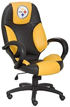 Pittsburgh Steelers Executive Chair: put this in your office and you can be sure… Steelers Gear, Here We Go Steelers, Pittsburgh Steelers Football, Dallas Cowboys, Steelers Stuff, Football Football, St Louis Rams, Executive Office Chairs, Desk Office