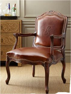 love this monogrammed chair