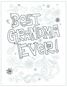 I love you grandma coloring page Mothers day coloring