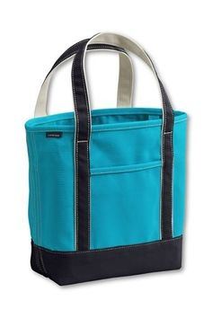 LE - Open Top Colored Canvas Tote Bags from Lands' End - StyleSays