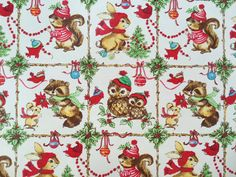 Vintage Christmas Wrapping Paper  Winter by TheGOOSEandTheHOUND