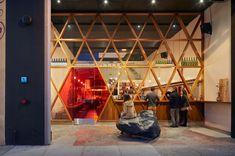 A Ramen Bar That Mixes Modern Design with Japanese Street Culture (Design Milk) Restaurant Design, Restaurant Bar, Restaurant Interiors, Facade Design, House Design, Valencia, Ramen Bar, Ramen Food, Retail Trends