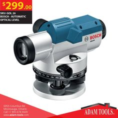 Buy Clearance Deals on BOSCH - AUTOMATIC OPTICAL LEVEL is $299 at Adam Tool Inc! Order http://www.adam-tools.com/automatic-optical-level.html #canada #mississuaga #power_tools #building_supplies #adamtools #shop_online #buy_online #Bosch