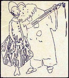 Pierrot et Pierrette, Bal Masque by Edna Boies Hopkins