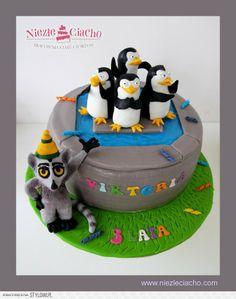 Pingwiny z Madagaskaru, torty bajkowe, torty dla dzieci, tort urodzinowy, dzieci, urodziny dziecka, Tarnów