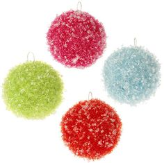 Shelley B Home and Holiday - RAZ Candy Sprinkles 4 inch Iced Ball Christmas Ornament, $24.00 (http://shelleybhomeandholiday.com/raz-candy-sprinkles-4-inch-iced-ball-christmas-ornament/)
