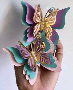 Paper butterflies are beautiful for home and party decorations. Butterfly Baby Shower, Butterfly Party, Butterfly Birthday, Butterfly Decorations, Butterfly Crafts, Butterfly Mobile, Butterfly Colors, Origami Butterfly, Butterfly Wall Art
