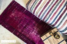 Dieser lila #Vintage Läufer ist ein antiker Teppich aus der Türkei, der in einem umweltfreundlichen, materialschonenden Verfahren neu eingefärbt wurde & ist bei uns in noch mehr prächtigen #Farben schon ab € 299,- erhältlich! Carpets, Wallet, Vintage, Color, Fashion, Lilac, Colors, Nice Asses, Farmhouse Rugs