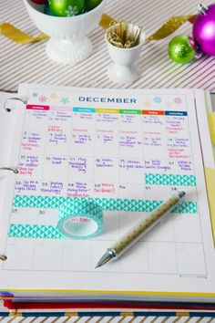 Holiday organizing binder