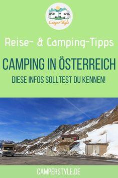Wichtige #Infos für deinen #Urlaub in den #Bergen! Alles, was du zum #Camping in #Österreich wissen musst! Bergen, Van Life, Road Trip, Travel, Outdoor, Camper, Hotels, Happiness, Cave