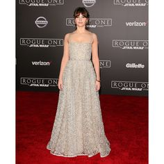 Felicity Jones dazzled in Dior at the premiere of Rogue One in Hollywood