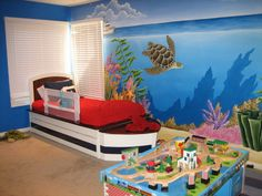 Ocean Theme Bedroom 2 Okay I Went Crazy And Made A New Mural At My
