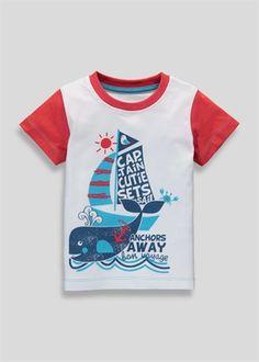 Boys Nautical T-Shirt - Matalan Baby Shirts, Boys T Shirts, Tee Shirts, Nautical T Shirts, Kids Wear, Children Wear, Matalan, Boys Suits, Kids Fashion Boy