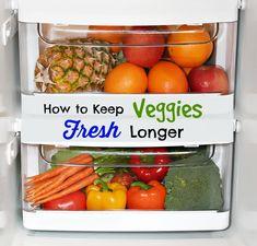 How to Keep Veggies FRESH Longer!
