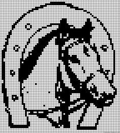 Horse perler bead pattern