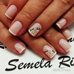 Unhas. Fancy Nails, Cute Nails, Pretty Nails, My Nails, Nails Today, Nail Art Hacks, Flower Nails, Manicure And Pedicure, Pedicures