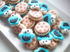 cookie monster...Stephanie J's Creations Decorated Cookies