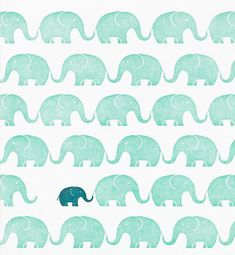 baby card with elephant motif / Design and illustration by Stephanie Ford Pattern Texture, Pattern Art, Pattern Design, Green Pattern, Motifs Textiles, Stoff Design, Motifs Animal, Elephant Pattern, Pretty Patterns