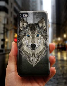 Geometric Grey Wolf Art Painting iPhone 6 S Case, 6 Plus Cover, Samsung Galaxy Case, HTC Case, Sony Xperia Case, LG G4 Case, Huawei Case, Galaxy Note Case, phone case