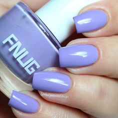 """Ana✨Nail Art-Tutorial-Swatches en Instagram: """"Beautiful lilac Glamazonian 45 by @fnug_official three coats + top coat ✨ #fnug #blackqueennailsdesignswatches"""""""