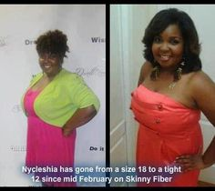 Nycleshia has gone from a 18 to a 12 since mid February on Skinny Fiber! If she can do it, you can too! Join the Skinny Body 90 Day Challenge. http://www.ubskinnychallenge.com/