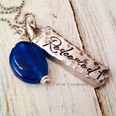 Personalized Pewter Necklace  Hand Stamped by FarrarCreations, $37.00