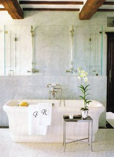 Love the towels. Would love a fancy 'D' on ours for the 1/2 bath...