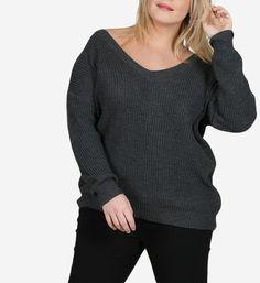 Nouveau Débardeur en Mailles plongeant V cou Chunky Cable Pull Lacets Sweater Crop Top