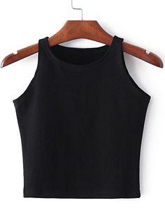 Shop Black Round Neck Crop Tank Top online. SheIn offers Black Round Neck Crop Tank Top & more to fit your fashionable needs.