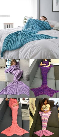 Up to 80% off and  extra $15 off, Rosewholesale Knitted Fish Scales Design Wrap Mermaid Blanket and Throws | Rosewholesale,rosewholesale home,rosewholesale.com clothing,rosewholesale clothes, rosewolesale plus size,rosewholesale dress plus size,bed and bath,mermaid blanket,throws | #rosewholesale #blanket #gift Arm Knitting, Knitting Patterns, Crochet Patterns, Crochet Mermaid, Scale Design, Christmas Gifts For Friends, Fish Scales, Stuff And Thangs, Pajamas Women