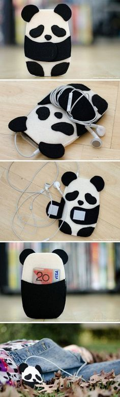 Panda iPod holder awwwww.cute