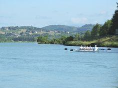 Aviron sur le Haut-Rhône avec le club Aviron Bugey Haut-Rhône ©Belley Bugey Sud Tourisme Rhone, Sport, River, Outdoor, Rowing, Top, Outdoors, Deporte, Sports