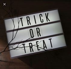 Halloween Trick or Treat Lightbox Cinema Light Box Quotes, Cinema Box, Lightbox Letters, Diy Letters, Lightbox Quotes, Light Up Message Board, Light Board, Licht Box, Led Light Box